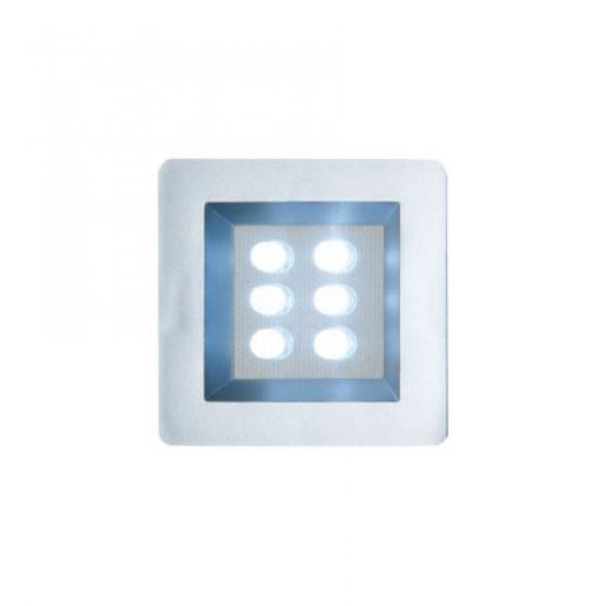 Luminária Quadrada Embutida com 6 Leds 40mm Frio Bivolt