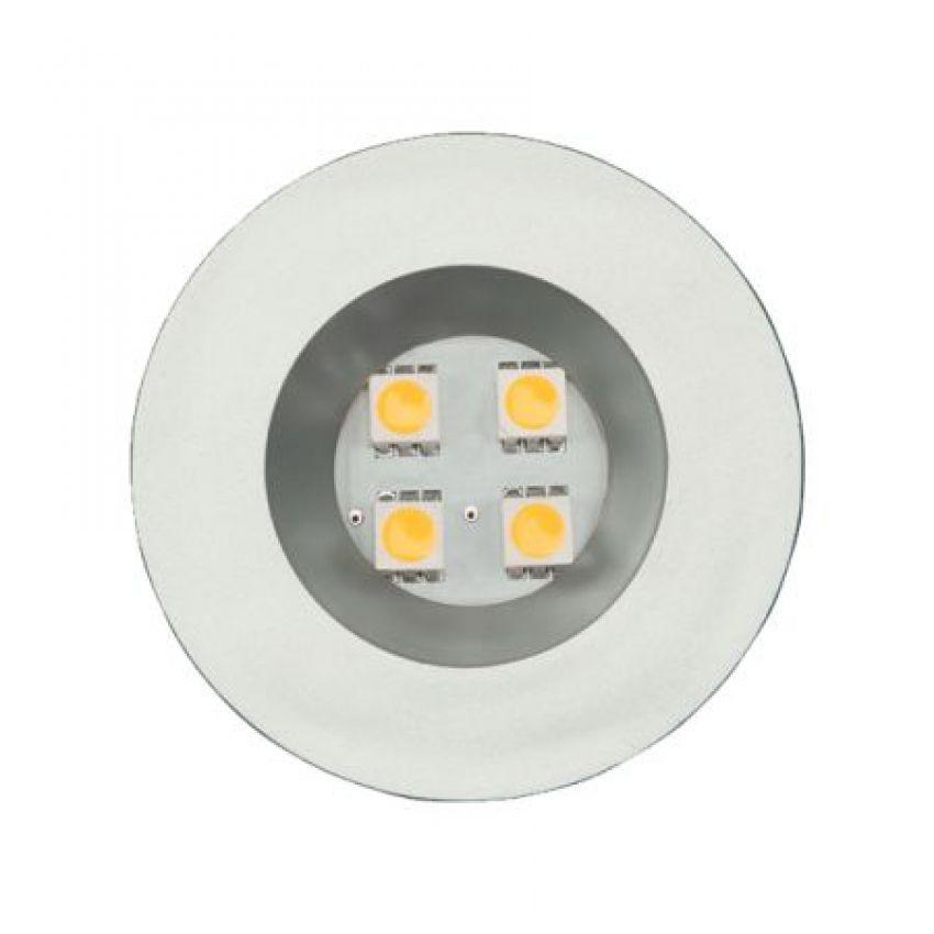 Luminária Redonda Embutida com 4 Leds Branco Frio 52mm CRB Para Móveis