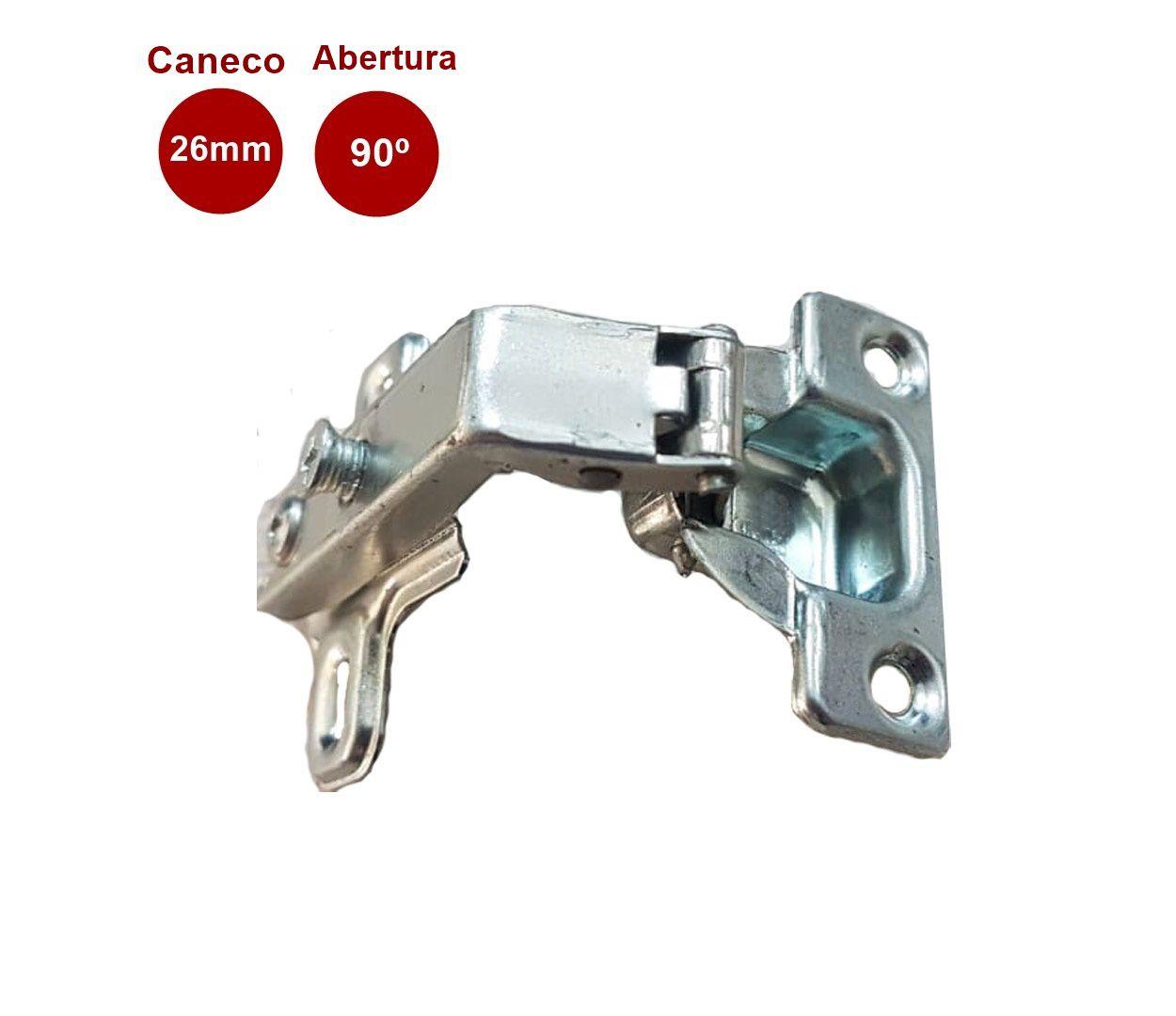 Mini Dobradiça 90° Caneco 26mm