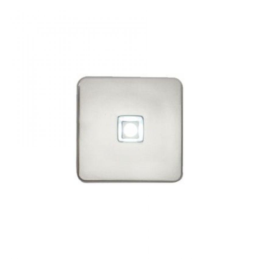 Mini Luminaria Quadrada com 1 Led