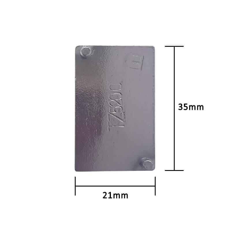 Par de Ponteiras para Perfil de Puxador 18mm