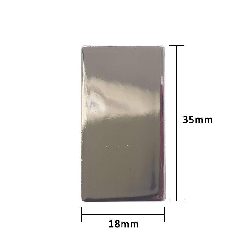 Par de Ponteiras para Perfil Puxador 15mm