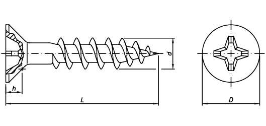 Parafuso Chipboard 5,0mm Autoperfurante bicromatizado