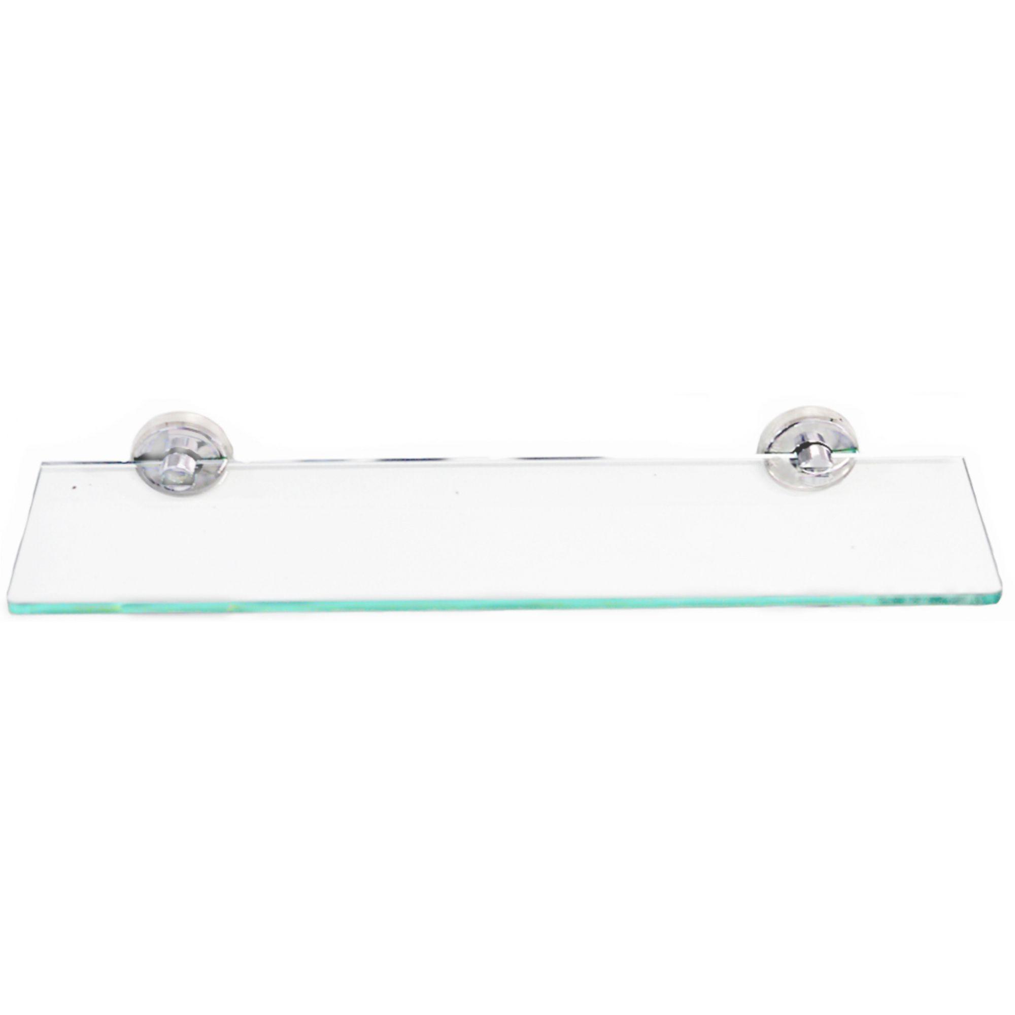 Porta Shampoo em aço inox com vidro