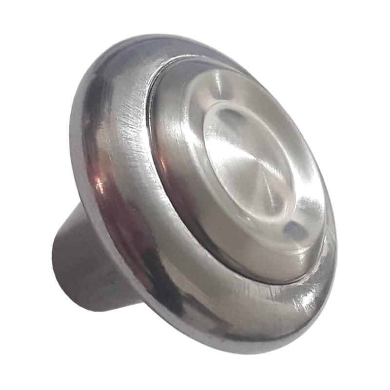 Puxador Botão Redondo para Gaveta Mod. Coroa Inox