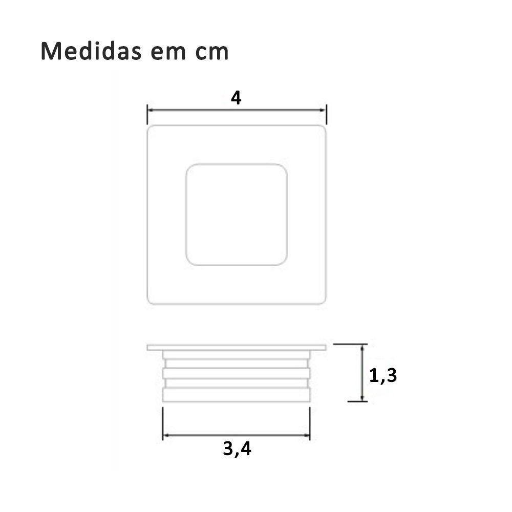 Puxador de Embutir Concha Quadrada 33mm