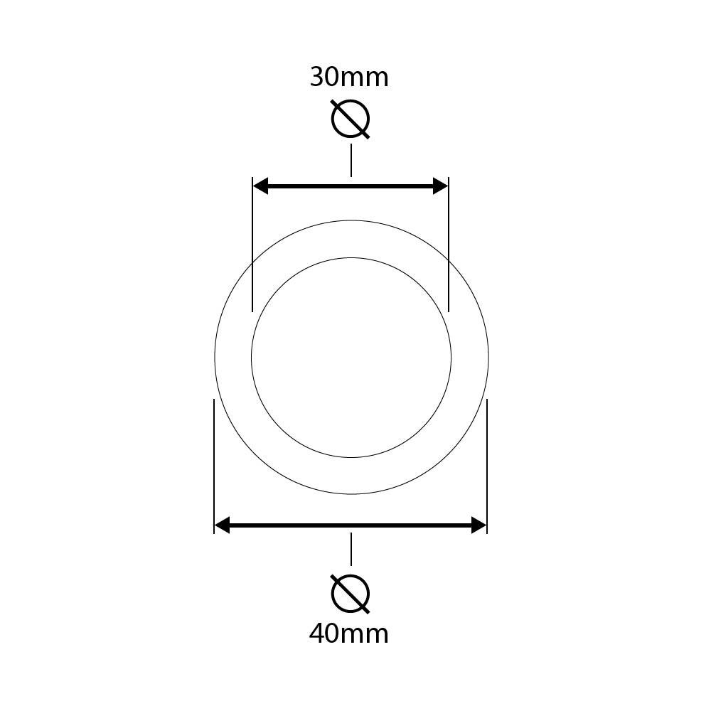 Puxador de Embutir Concha Redonda 33mm