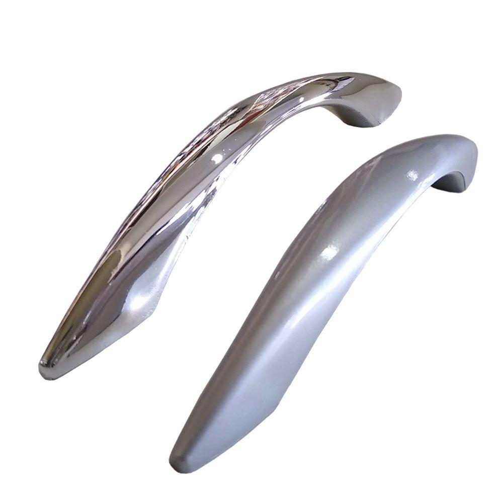Puxador de plástico para Móveis Mod. Napoli cinza / cromado