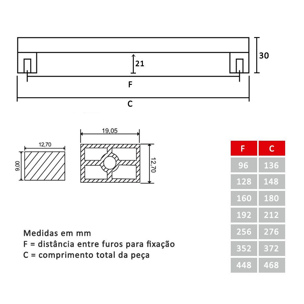 Puxador para Móveis Mod. 232