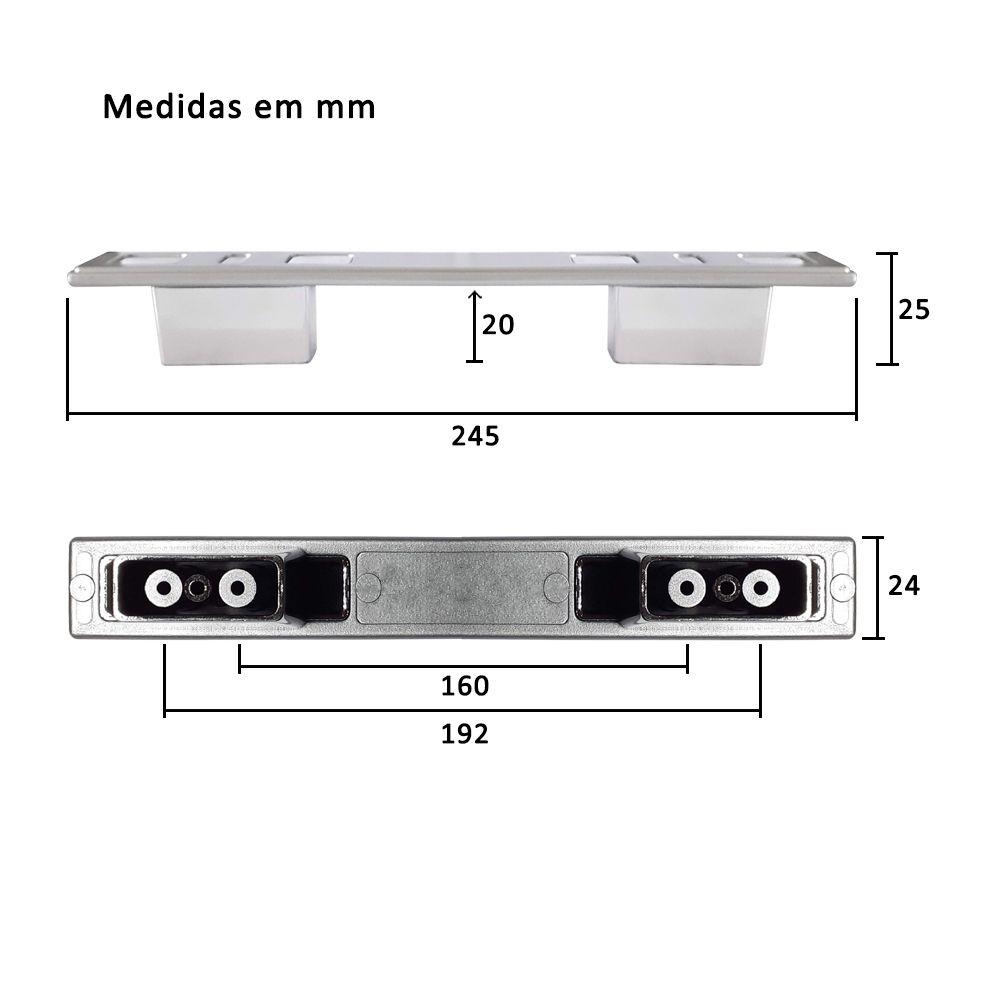 Puxador para Móveis Mod. Kappa 160 e 192mm