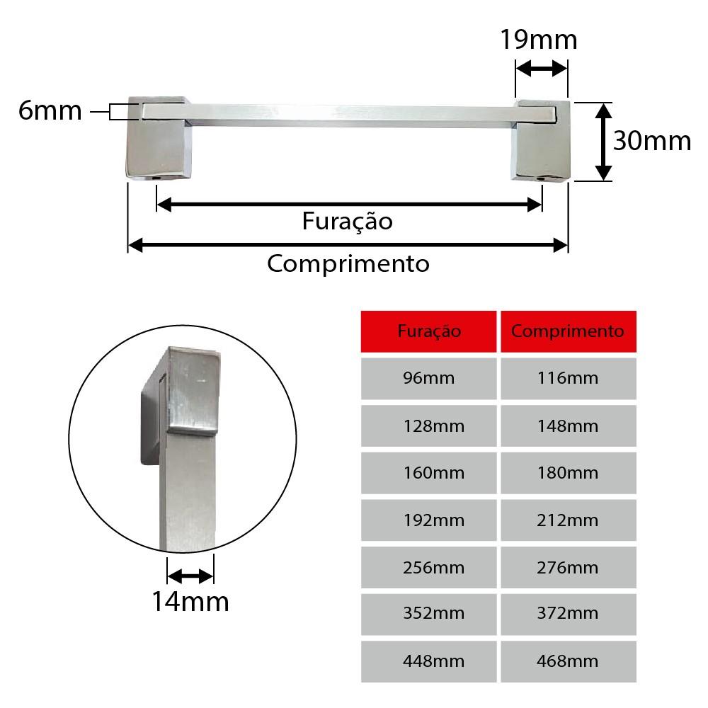 Puxador para Móveis Modelo Ponte - 0227