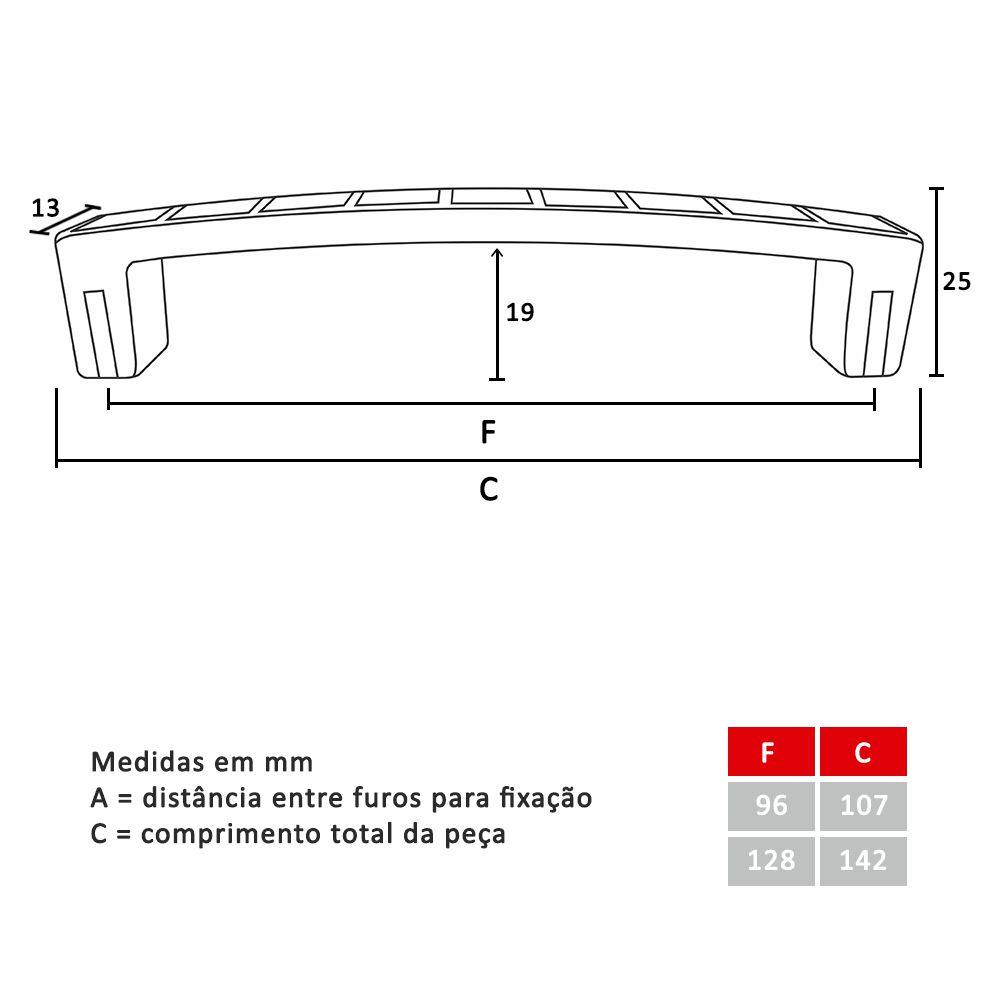 Puxador para Móveis Mod. Reflex