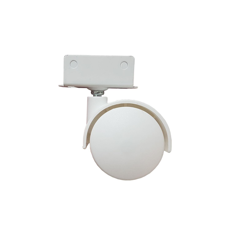 Rodizio Branco Chapa U 18mm