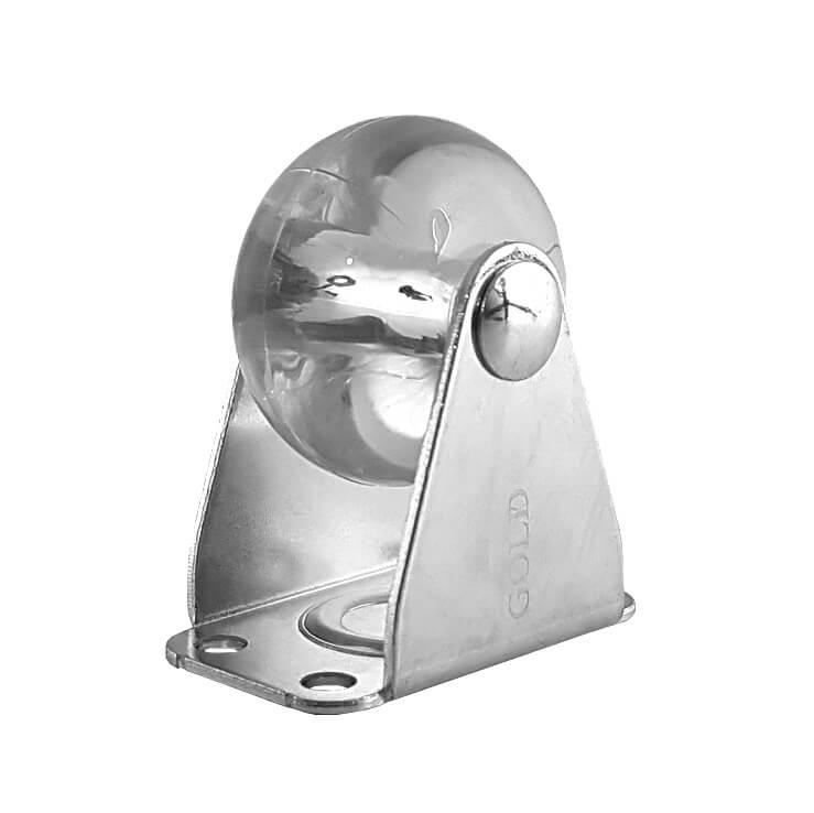 Rodizio Gel Transparente Fixo 35mm para Móveis