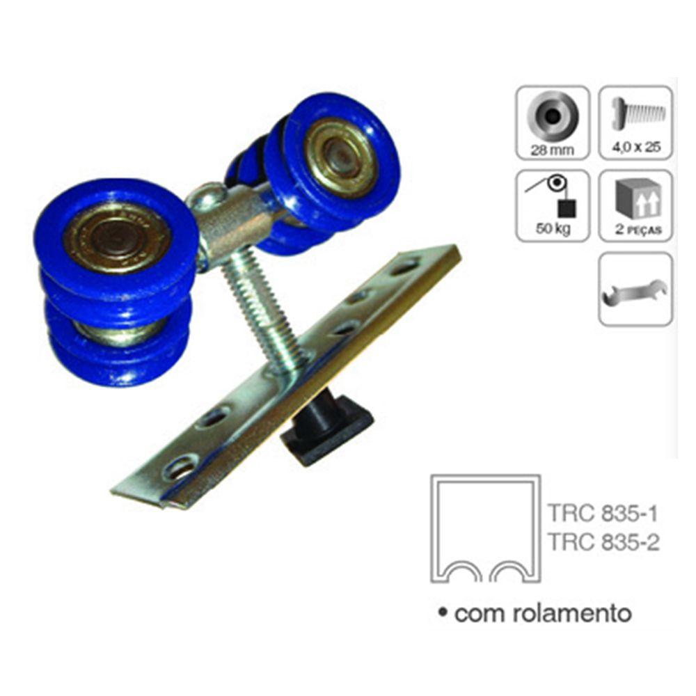 Roldana Côncava Dupla RDX-4 para 1 Porta