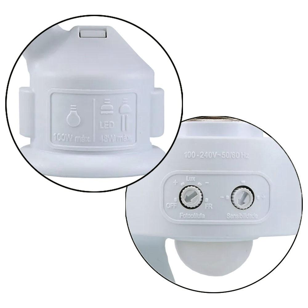Sensor de Presença Ajustável com soquete e27