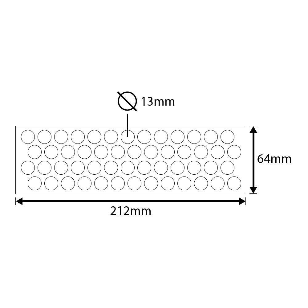 Tapa Furo Em Adesivo Connect 13mm