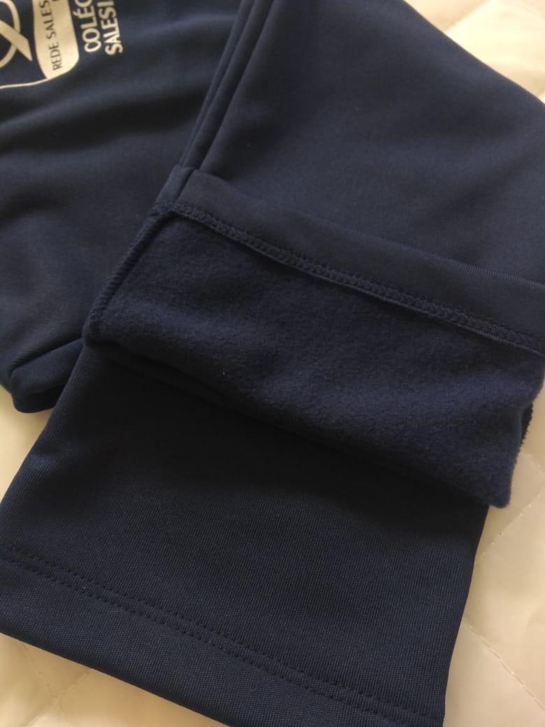 Calça Helanca Peluciada Masculina Infantil REDE SALESIANA