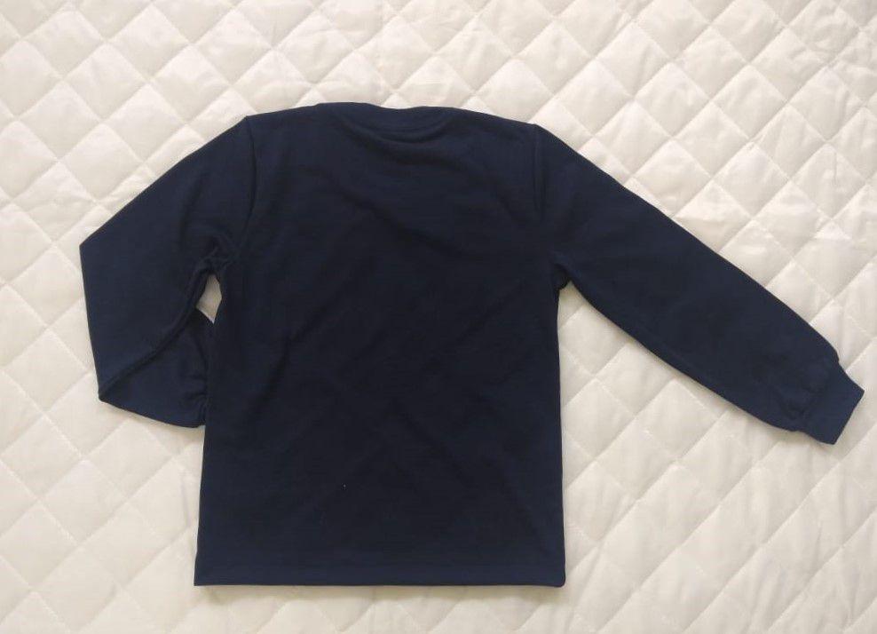 Camiseta Manga Longa Azul Marinho Infantil REDE SALESIANA