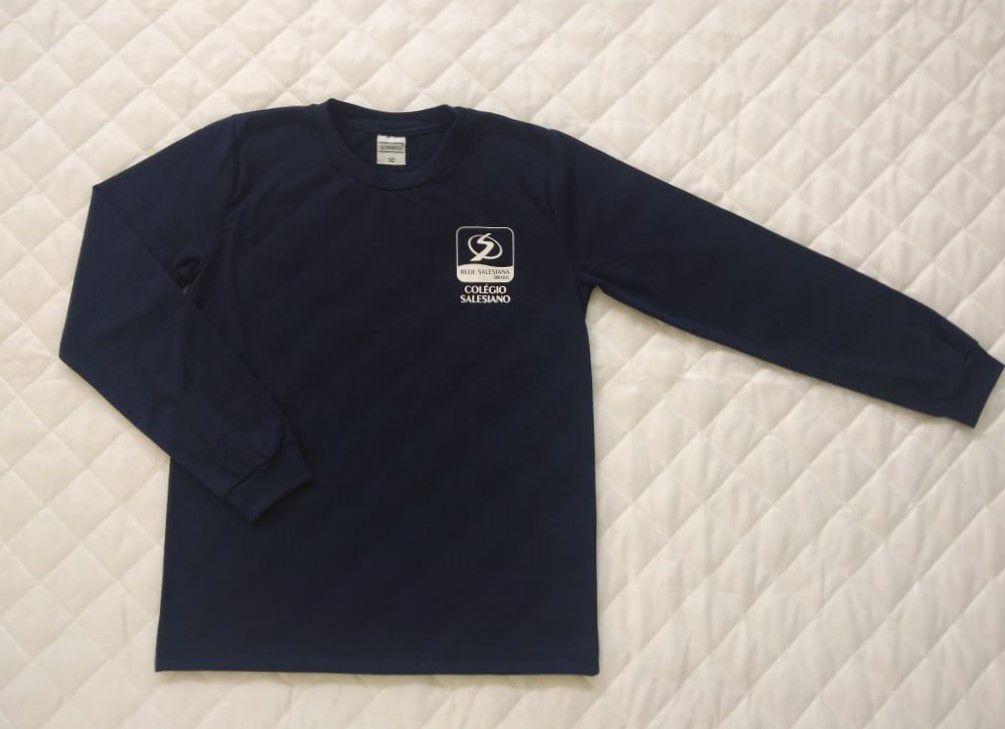Camiseta Manga Longa Azul Marinho Juvenil REDE SALESIANA