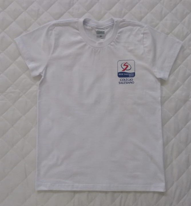 Camiseta Manga Curta Branca Adulto REDE SALESIANA