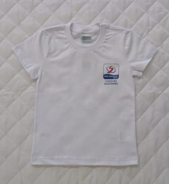 Camiseta Branca Infantil Unissex - REDE SALESIANA