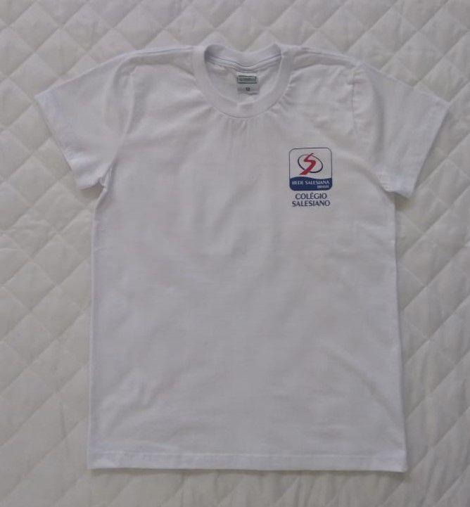 Camiseta Manga Curta Branca Juvenil REDE SALESIANA