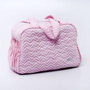 Bolsa Maternidade - Chevron Rosa - Baby Care 6348f68f08e70
