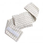 Bolsa Térmica Sementes c/cinta Chevron Bege - Bebê sem Cólica
