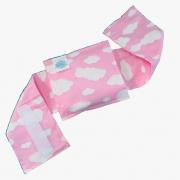 Bolsa Térmica de Sementes Naturais com cinta Nuvem Céu Rosa - Bebê sem Cólica