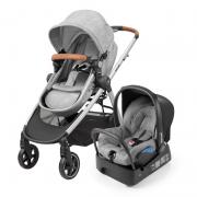 Carrinho para bebê junto com Bebê Conforto Travel System Anna Nomad Grey Maxi - Maxi Cosi
