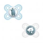 Chupeta Perfect Start (0-2m) Azul - 2 unid. - MAM