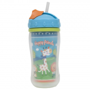 Copo com Canudo Happy Friends 320ml - Buba