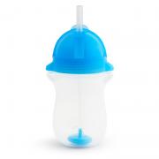 Copo Grande com Canudo Click Lock Azul 296ml - Munchkin