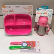 Kit Alimentação Munchkin Rosa