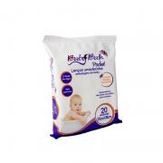 Lenços Umedecidos a Base de Água Pocket 20 unidades - Baby Bath