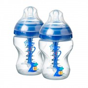 Mamadeira Advanced Anti Colic 260ml Azul (2 unidades) - Tommee Tippee