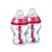 Mamadeira Advanced Anti Colic 260ml Rosa (2 unidades) - Tommee Tippee