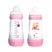 Mamadeira First Bottle 260ml Girls 2 unid. - MAM