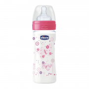 Mamadeira Fisiológica Well-Being 250ml 2m+ Girl - Chicco