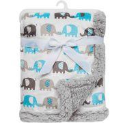 Manta Elefantinhos Azul - Buba