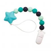 Prendedor de Chupeta Silicone Azul - Girotondo Baby