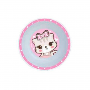 Tigela Infantil Gato Rosa - Clingo