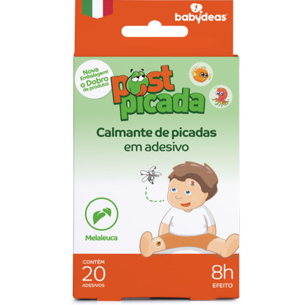 Adesivo Calmante e Natural para Picadas Bebê 20 unidades Post Picada - Babydeas