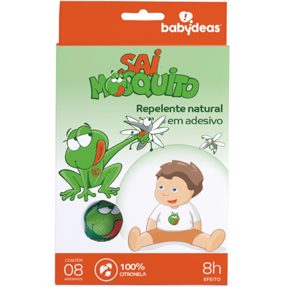 Adesivo Repelente Natural 100% Citronela Sai Mosquito - Babydeas