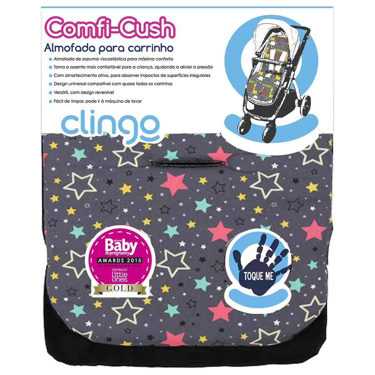 Almofada Carrinho Comfi Cush - Color Stars - Clingo