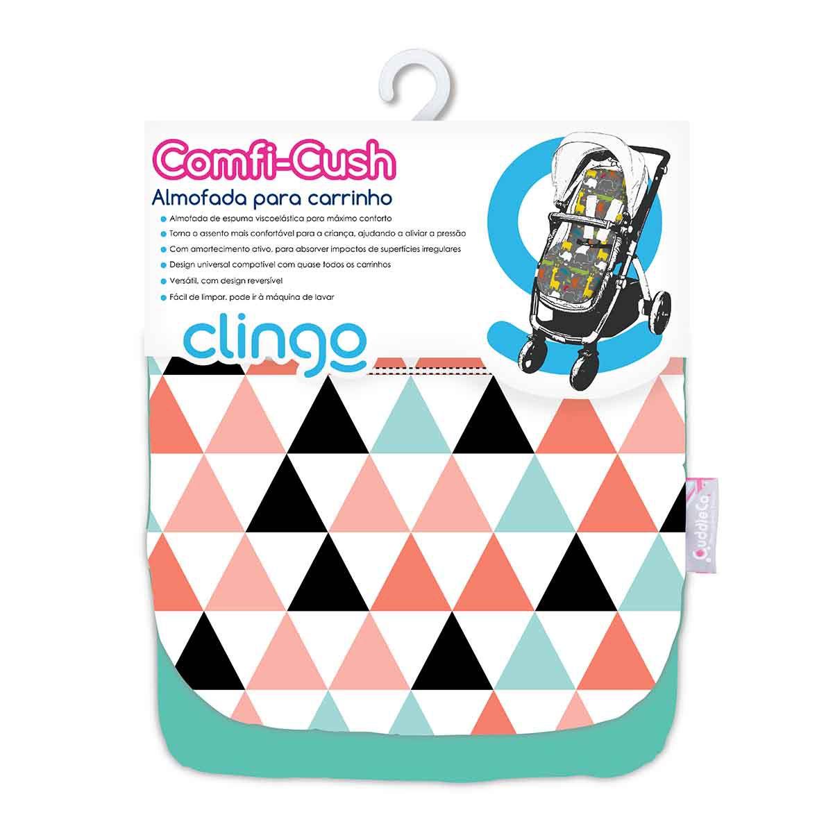 Almofada Carrinho Comfi Cush - Triangles - Clingo