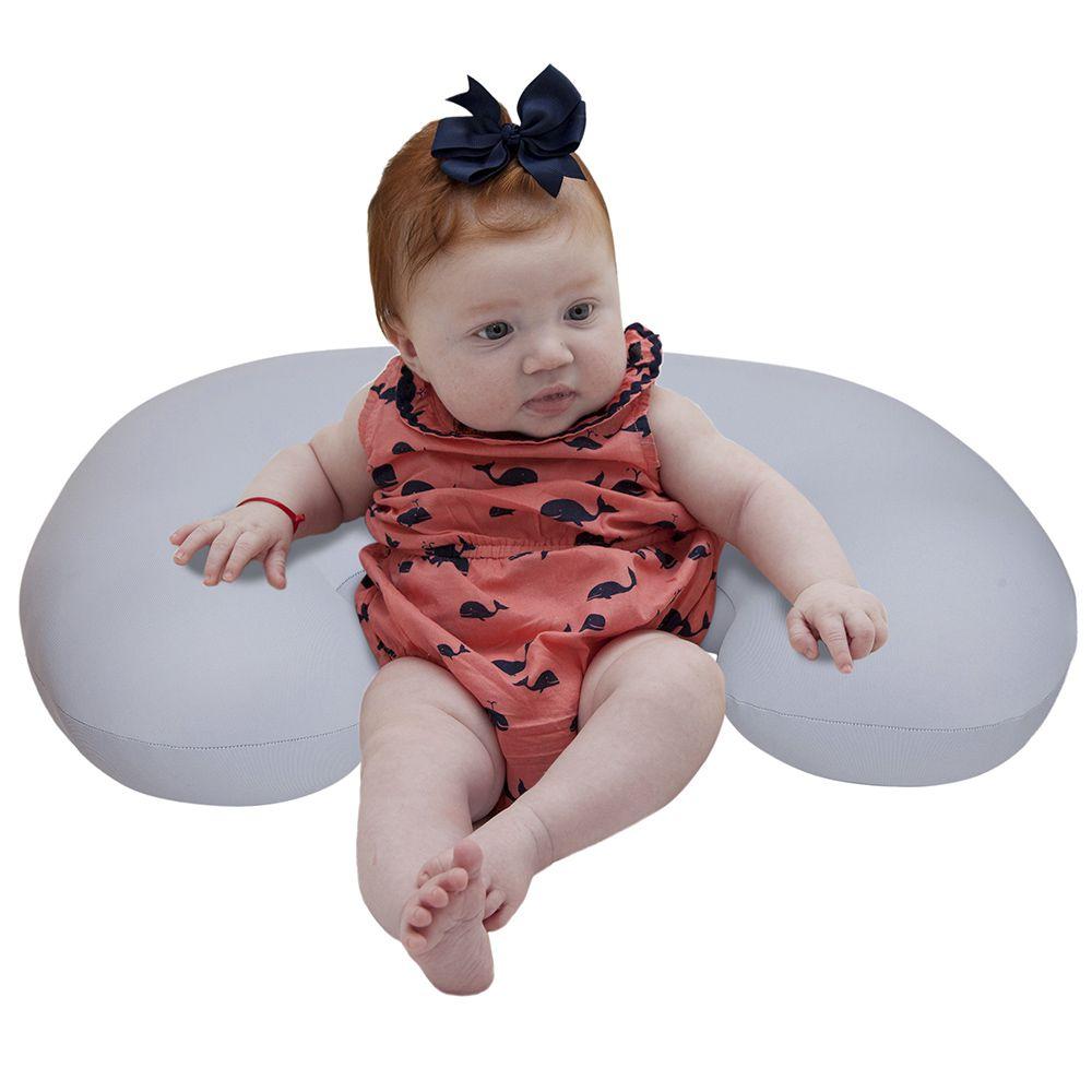 Almofada de Amamentação Milk Baby Cinza - Baby Pil