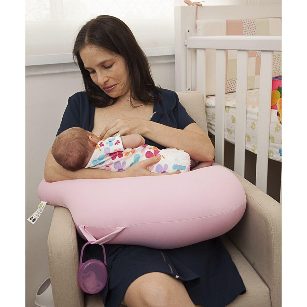 Almofada de Amamentação Milk Baby Rosa - Baby Pil