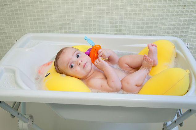 Almofada de Banho Bebê Patinho Joy - Baby Pil